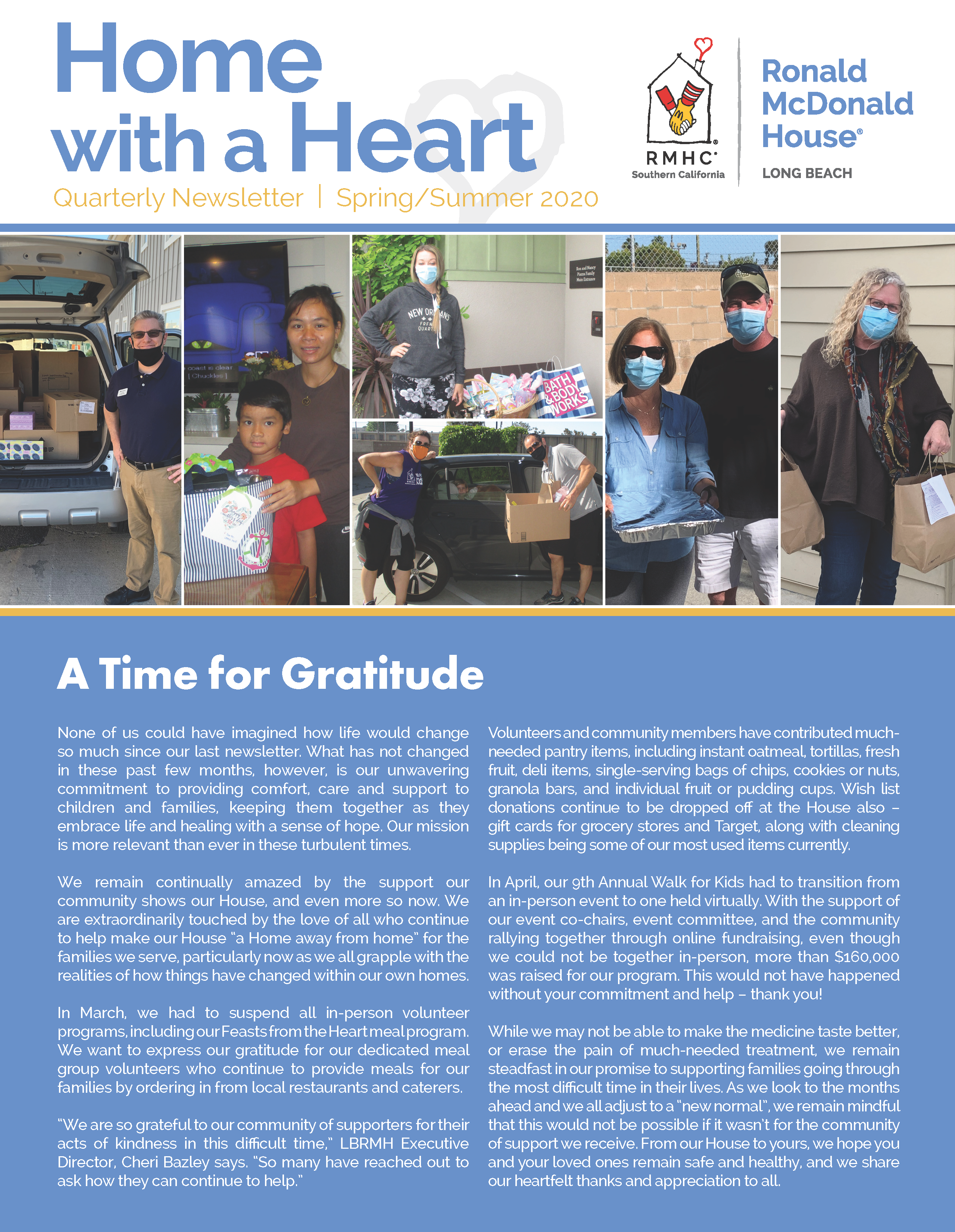 Page one of Newsletter
