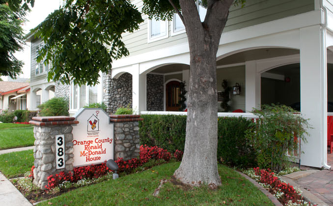 Front of the Orange County Ronald McDonald House