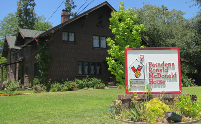 Front of the Pasadena Ronald McDonald House