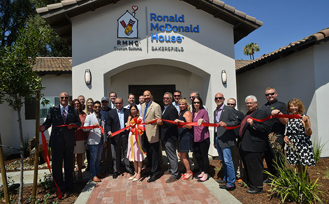 Bakersfield Ronald McDonald house re-opening ceremony