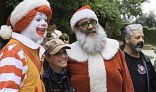 Ronald, Santa, and Harley Riders