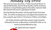 8th Annual Toy Drive Flyer