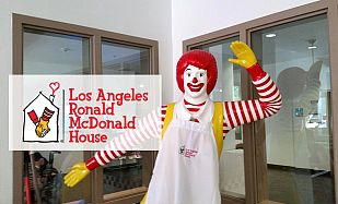 Ronald Statue in the Los Angeles Ronald McDonald House