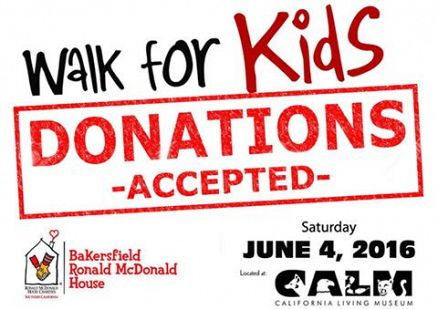Donations Accepted for 2016 Walk for Kids