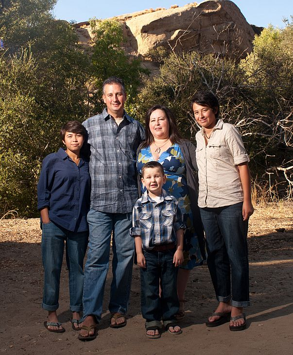 Picture of the Compton family at Camp