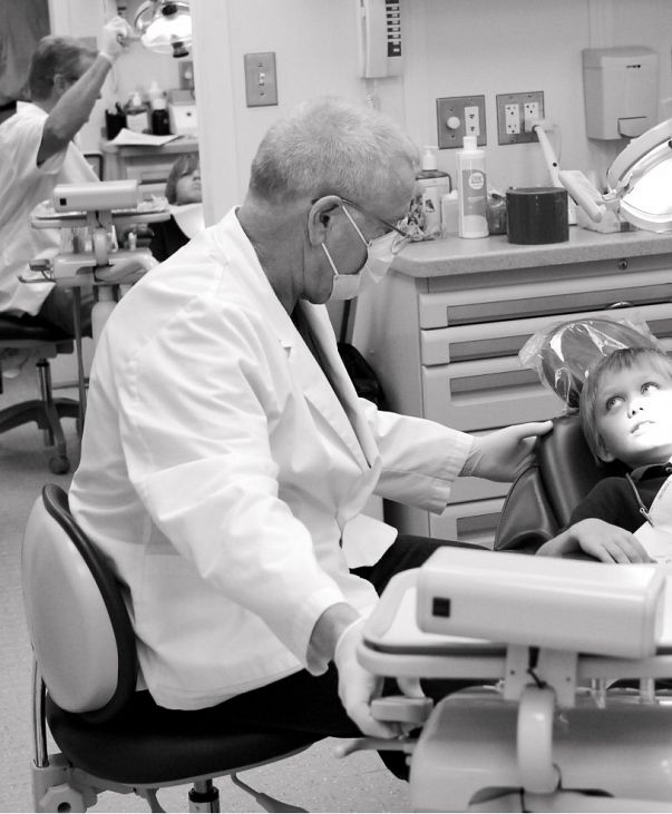 Dental care given to child