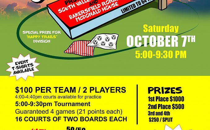 Corn Hole Event Flyer