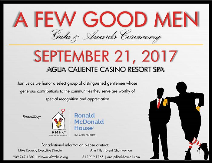 2nd Annual A Few Good Men Gala & Awards Ceremony for Inland Empire  House