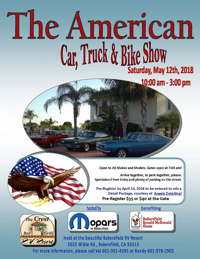 The American Car Truck Bike Show Benefiting The Bakersfield - Bakersfield car show