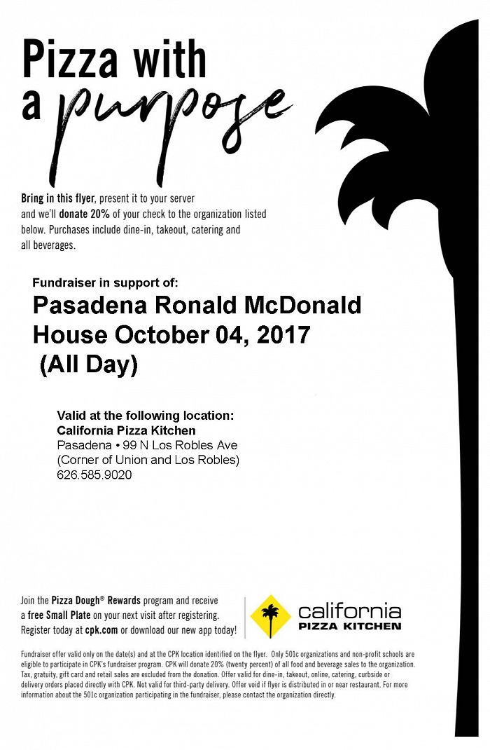 Pizza With a Propose - Fundraiser in support of the Pasadena