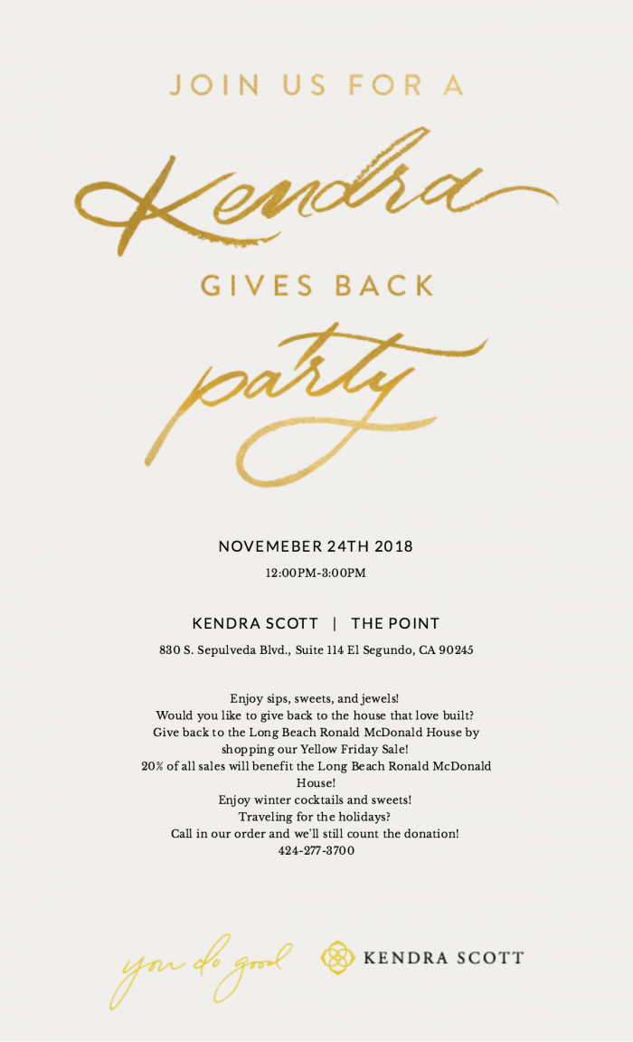 Kendra Scott Party Flyer