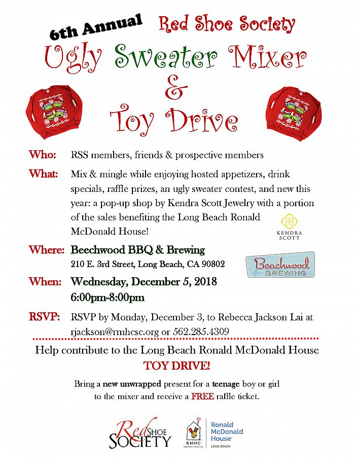 Ugly Sweater Mixer flyer
