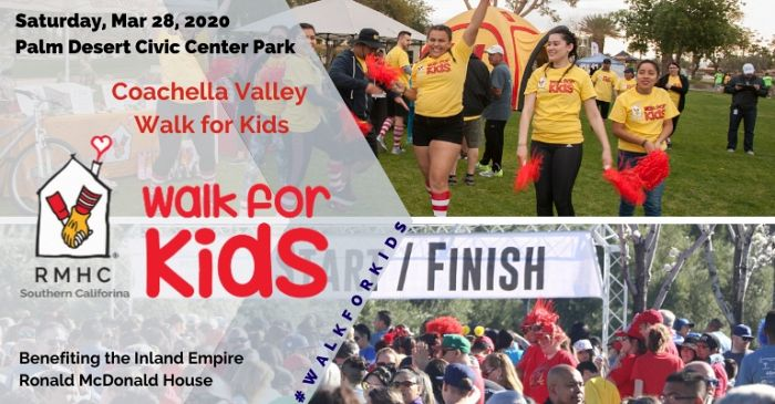 2020 Walk for Kids Coachella Valley Banner