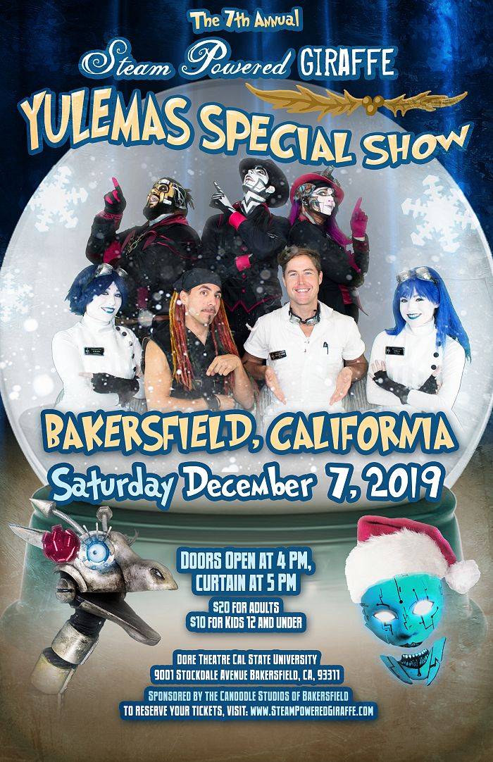 7th Annual It's a Very Steam Powered Giraffe Yulemas Special flyer