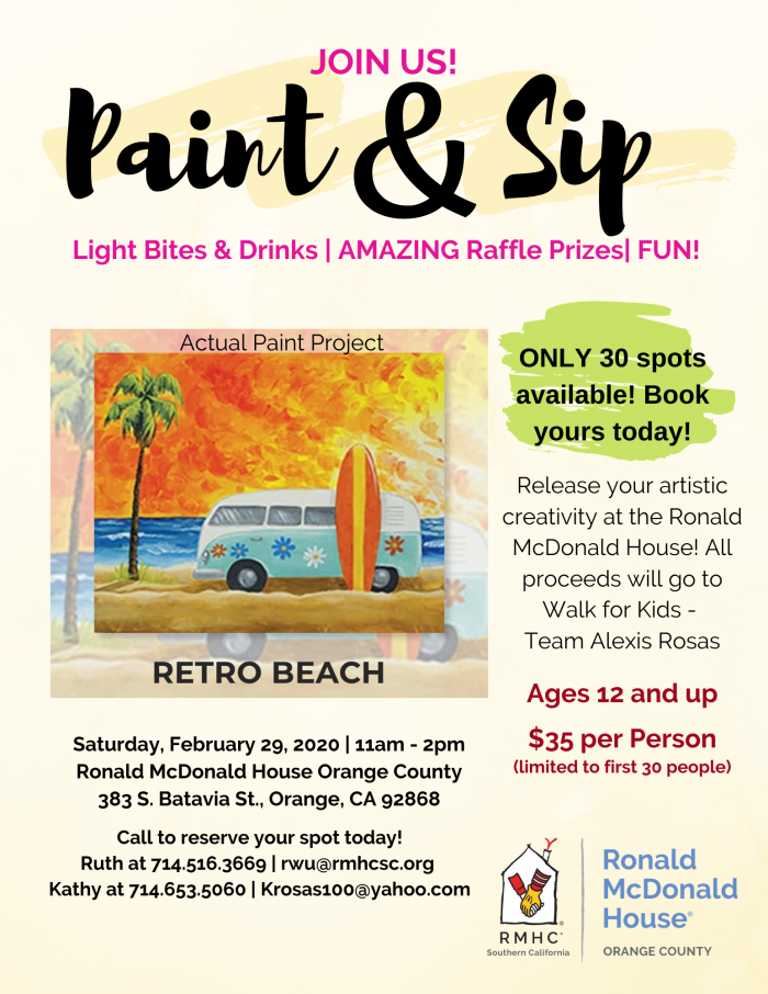 Paint and Sip 2020 Flyer