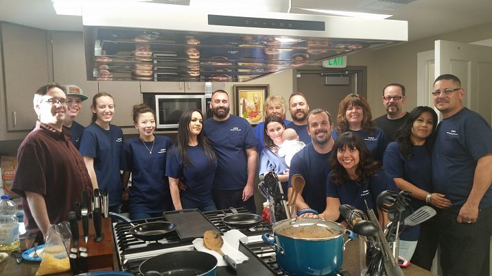 Meals of Love Volunteers at the Inland Empire Ronald McDonald House