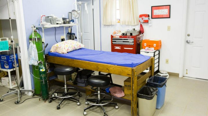Med shed exam room