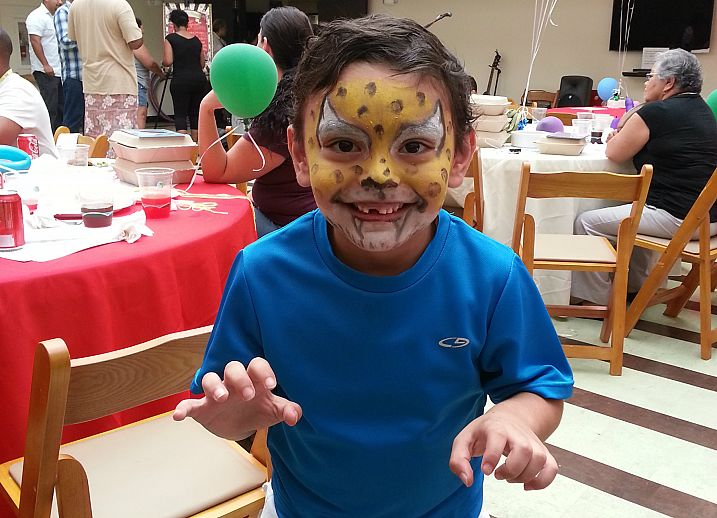 Christopher with Tiger Face Paint