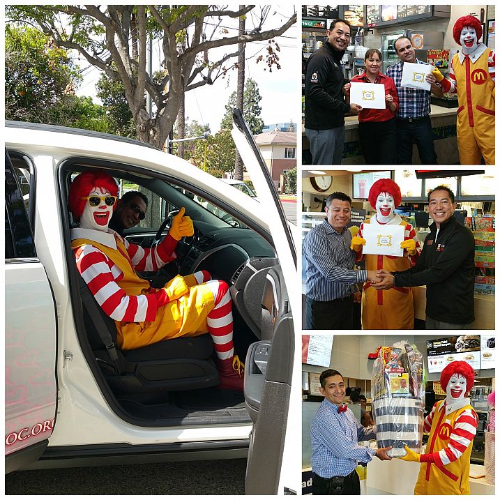 Ronald visits Orange County's Top Store/Restaurants in the 2015 Shoe campaign